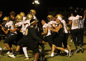 Verrado players celebrating their win after a remarkable win