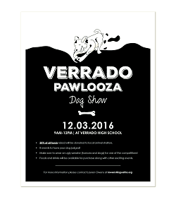 A flyer promoting the upcoming Dog Show. Created by NHS.