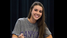 "Big Signing for Verrado's Big Hitter: ""Today my dream of playing Division 1 softball comes true,"" said Acton. She will be playing for the Grand Canyon University Antelopes next fall. Picture taken from @Katelyn2929 account on Twitter."