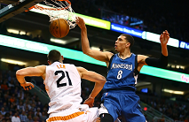 "Len gets dunked on: Alex Len at 7'1"" and 260 pounds is dunked on Zach Lavine in what is his personal nomination for Dunk of the Year.  November 25, the Minnesota Timberwolves defeated the Suns 98-85. ''Things weren't going well in that game,'' Wolves coach Thibodeau said, ''but the fight was there and we just kept working the game and the game turned.''"