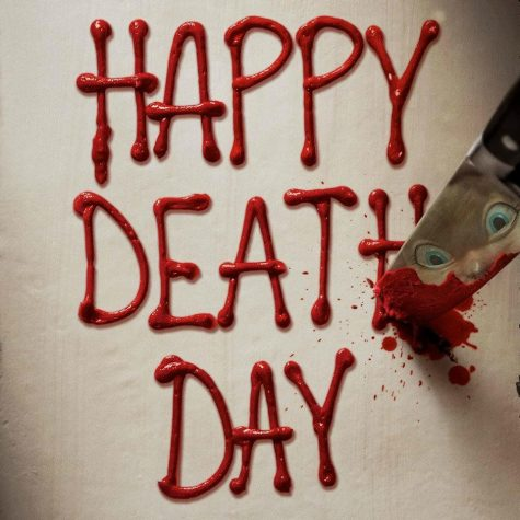 "The cover of the new teenage dark comedy ""Happy Death Day"" directed by Christopher B. Landon. Photo credit to Michelle Belfield. This film was released on a fitting date of October, Friday the 13th."
