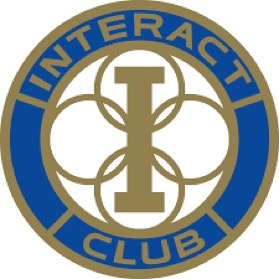 This symbol is the logo used to represent the Interact club which provides students with opportunities to serve local communities. Members meet in classroom A9 on Tuesdays after school to discuss upcoming projects and potential service opportunities in the area.