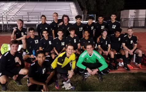 The Verrado Boys Soccer Team smiles after their 3-0 win on Monday November 27 at Dysart High School. Their first win of the three match ahead of them. Photo Credit to Coach Travis Roux