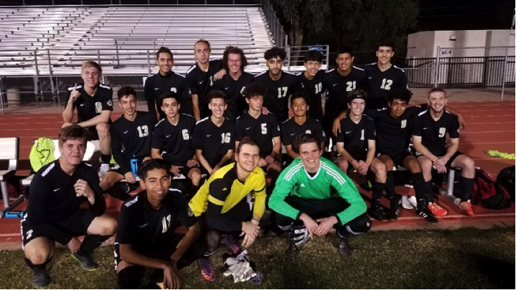 The+Verrado+Boys+Soccer+Team+smiles+after+their+3-0+win+on+Monday+November+27+at+Dysart+High+School.+Their+first+win+of+the+three+match+ahead+of+them.+Photo+Credit+to+Coach+Travis+Roux%0A