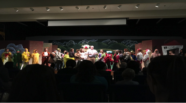 On stage at their last performance, the Verrado Middle School play cast. As their last play showing was Sunday, December 3rd, there will not be anymore showings, but the cast all had a lot of fun performing together. Photo by Madeleine Lelito.