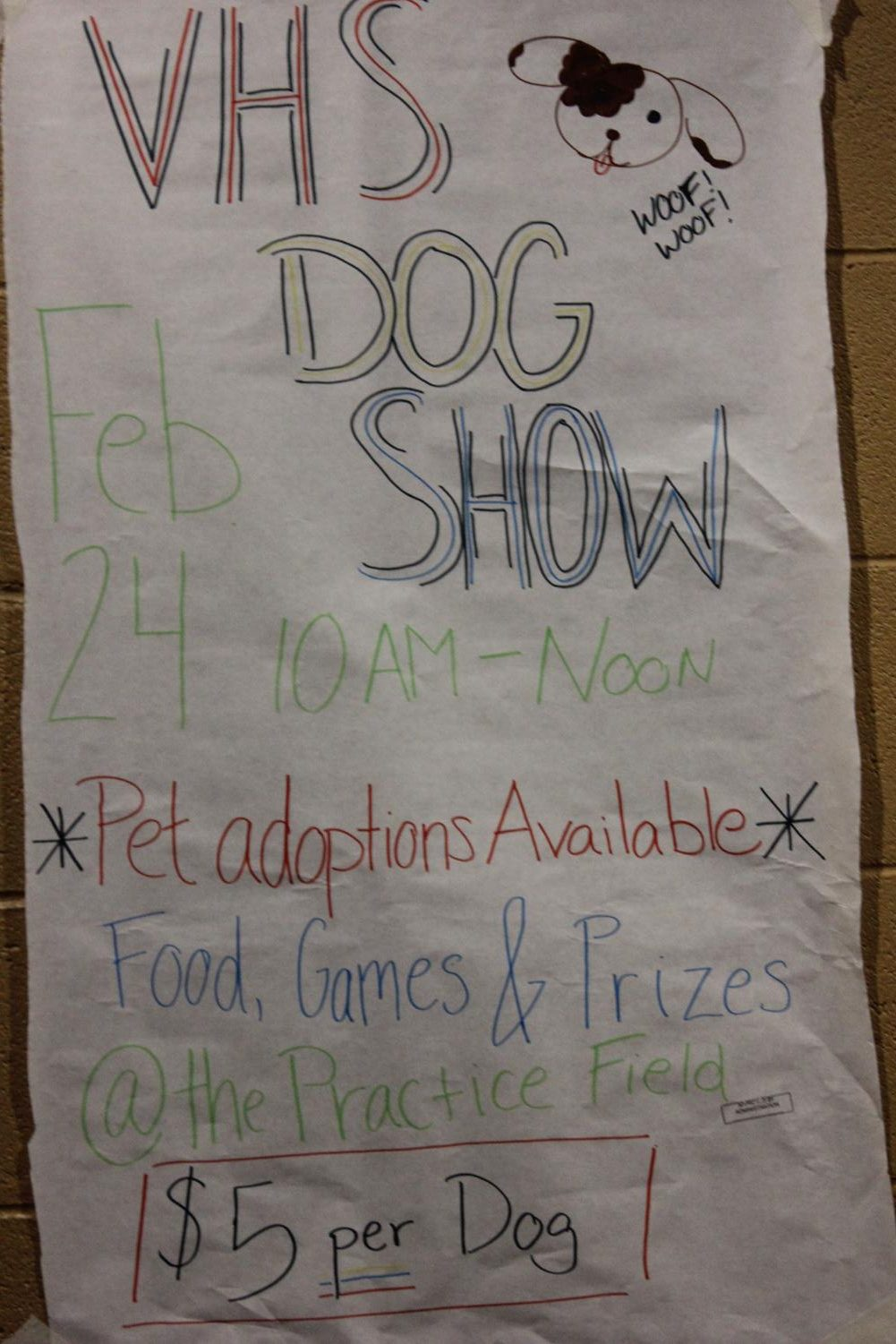 Verrado students and community members participated in the second annual Dog Show. The National Honor Society hosted the event on February 24. Photo credit to Krysyan Edler.
