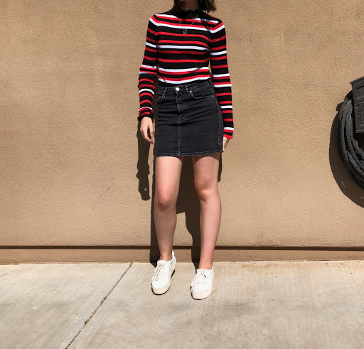 Verrado Sophomore Hannah Parkin, who loves to try out autumnal colors for the fall.