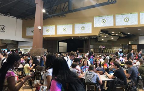 Every afternoon, students at Verrado High have 25 minutes to dine in the school cafeteria above