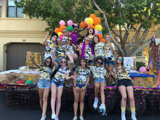 The JV Verrado volleyball team together on their float after the annual Homecoming parade.  Pictured- (starting at top left) Skye Pippin, Sydney Harding, Ashley Solis,  Arlette Acosta, Lauren Thibodeaux, Taylor Hull, Emily Wilson, Serena Navarro, Alyssa Cluff, Izzy Monzone, Emma VanValkenburg, Carolyna Montez, Raina Robinson, Kylee Oakley