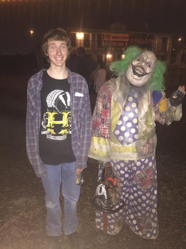 Verrado graduate and Phoenix resident Mason Lindgren at the entrance to Fear Farm.