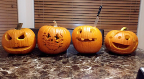 Jack-o-lanterns like these have been carved by Verrado students for Halloween.