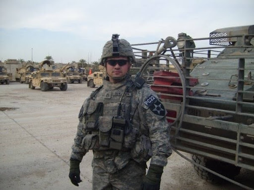 Army Veteran Staff Sergeant Brent Benjamin (Infantry), 2008 Baghdad, Iraq