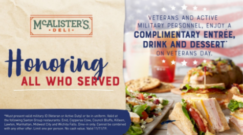 One of the several restaurants that honor their veterans by providing discounted or even free food.